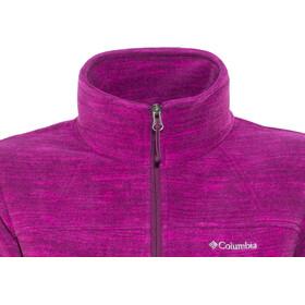 Columbia Fast Trek Printed Jacket Women Dark Raspberry Spacedye Print